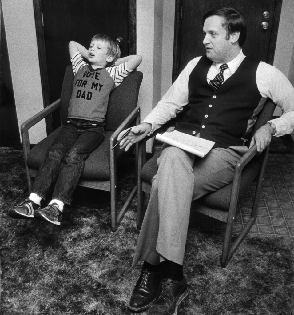 Scott and Ed 1984 Election Night 2